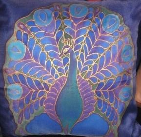 cushion - peacock